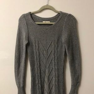Hollister grey long sleeve dress